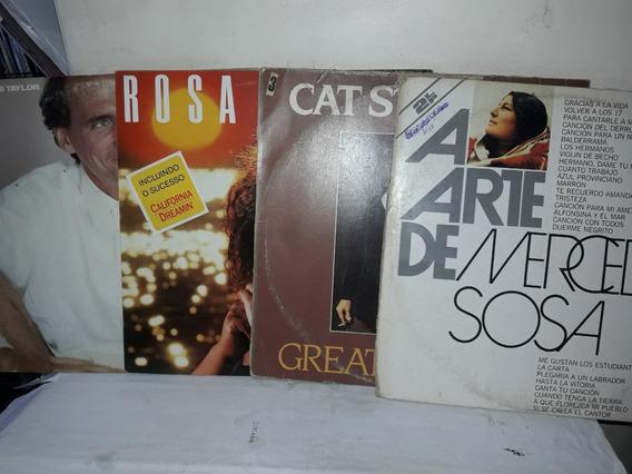Lote (01) Folk Mercedes Sosa,james Taylor,cat Steves,rosa Ne