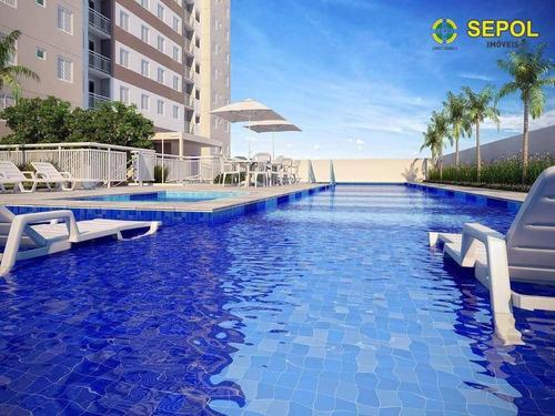 Apartamento Com 1 Dormitório À Venda Por R$ 185.000,00 - Cidade Satélite Santa Bárbara - São Paulo/sp - Ap0583