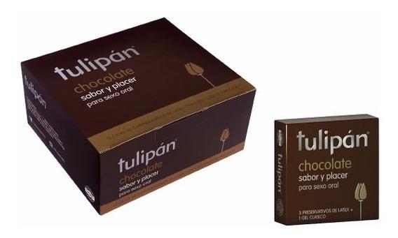 Tulipán - Preservativos Chocolate X 12 Cajitas X 3 Un.