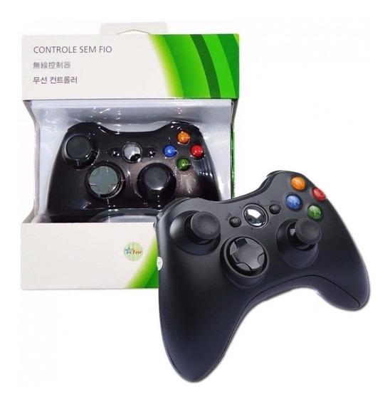 Controle Xbox 360 Sem Fio Novo - Preto