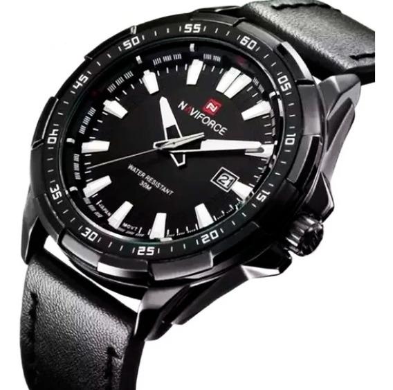 Relógios Naviforce 9056 Original Pulseira Couro