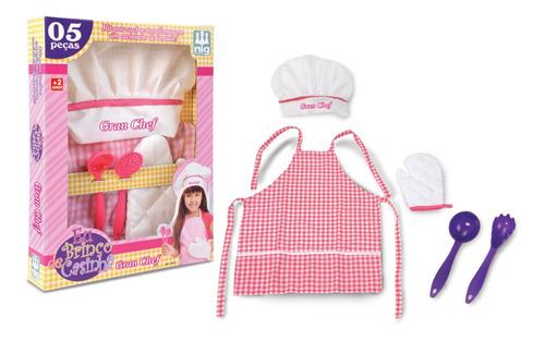 Imagem 1 de 2 de Kit Master Chef Cozinheira Brinquedo Cozinha Infantil Nig