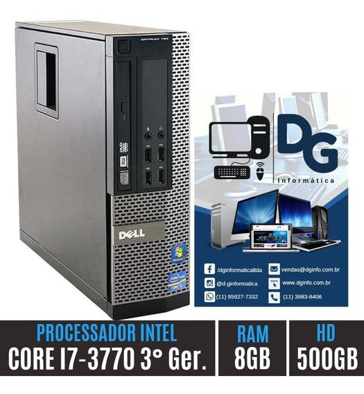 Cpu Home Dell Core I7 3° Ger. 8gb Hd500 Envio Imediato