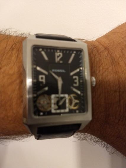 Relógio De Pulso Fóssil Retangular Automático