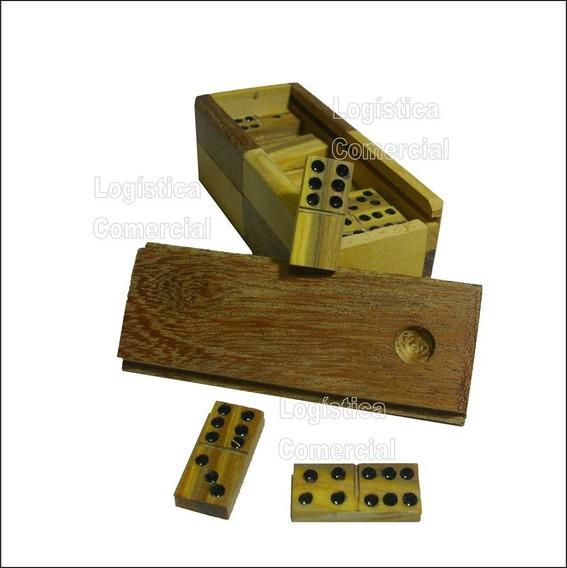 Domino Madera Artesanal Vera Con Caja 9 X 4 X 3 Cm Juego