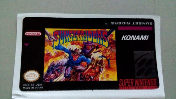 Label Sunset Riders Snes Super Nintendo