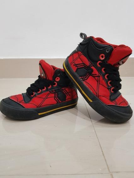 Zapatos De Niño Spiderman Hombre Araña Originales Marvel 23