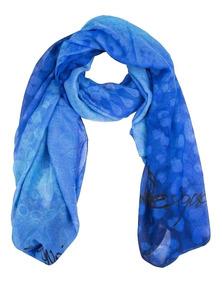 Pañuelo Desigual Modelo Animal Print En Azul , Belloooooo