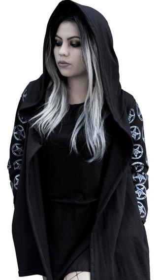 Cardigan Abrigo Ligero - Baphomet Pagan Witch Goth Punk Muje
