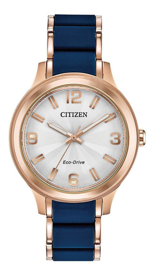 Relógio Citizen Eco-drive Drive Ladies Azul Gold Fe7073-71a