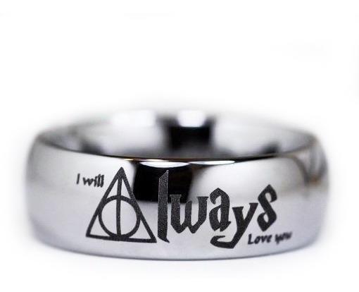 Anillo Harry Potter Plata .925 I Will Alweys Love You Hp