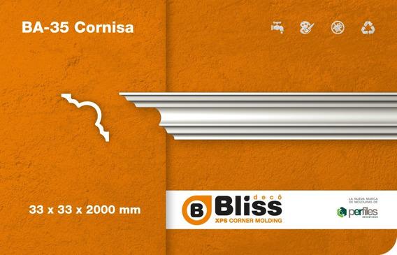 Cornisa Moldura Interior Blis Deco Telgopor Ba35 Pack X 4mt