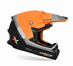 Capacete Mattos Racing Mx Pro Strike Cor Laranja - 60