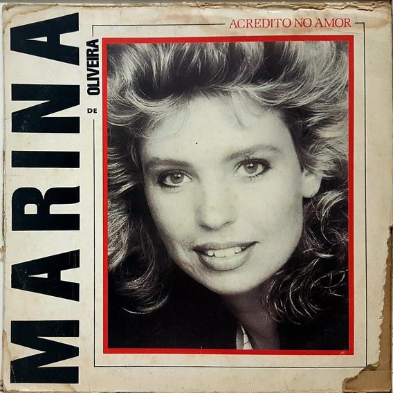 Lp Marina De Oliveira - Acredito No Amor - Com Encarte - 10