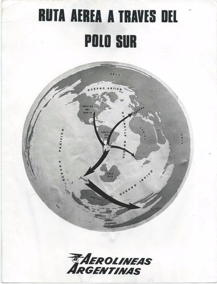 Aerolineas Argentinas Ruta Aerea Al Polo Sur Foto Poster