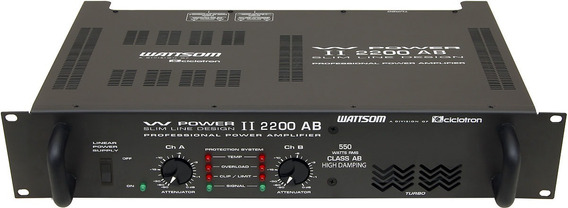 Potência Wattsom Wpower Ii 2200 Ab 4ohms