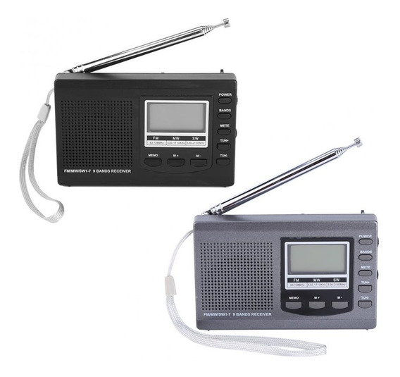 Hrd-310 Portátil Mini Fm Mw Sw Digital Alarme Do Relógio Fm