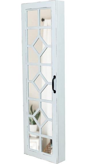 Armario Joyero Con Espejo Para Puerta O Pared, Blanco