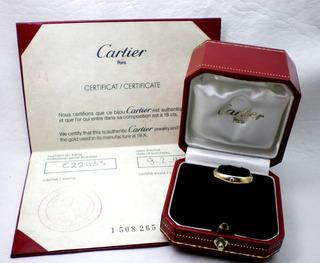 Anillo Cartier De Oro 18 Kt Y Brillantes
