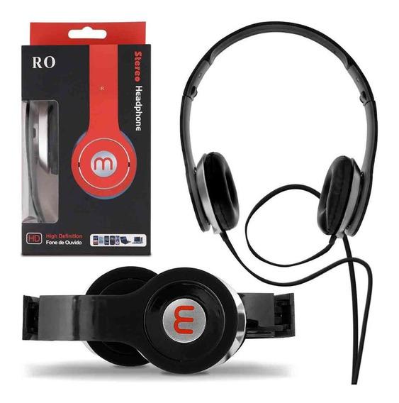 Fone De Ouvido Headphone Para Celulares Smartphones Preto