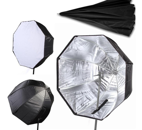 Softbox Iluminação Sombrinha Octogonal 80cm Universal Flash