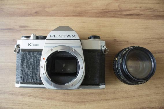 Câmera Analógica Pentax K1000 Em Ótimo Estado!
