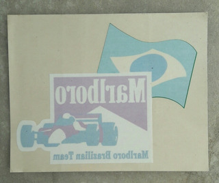 Adesivo Marlboro Brazilian Team - 1995 - Fórmula 1