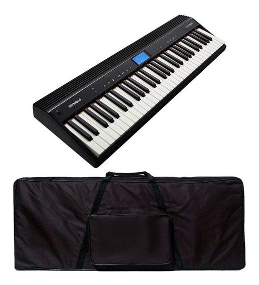 Teclado Roland Sintetizador Go Piano 61 Bluetooth + Capa