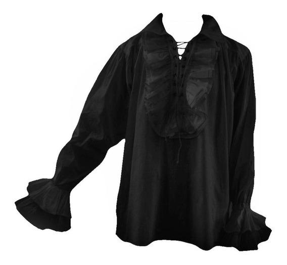 Camisa Pirata Medieval Con Volados A Medida