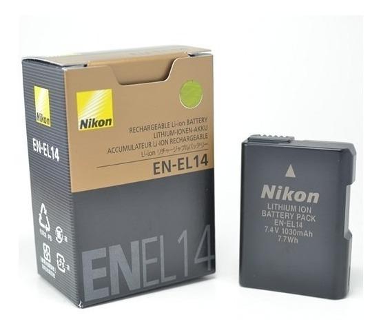 Bateria Nikon En-el14 P/ D3100 D3200 D3300 D5200 D5100 P7000