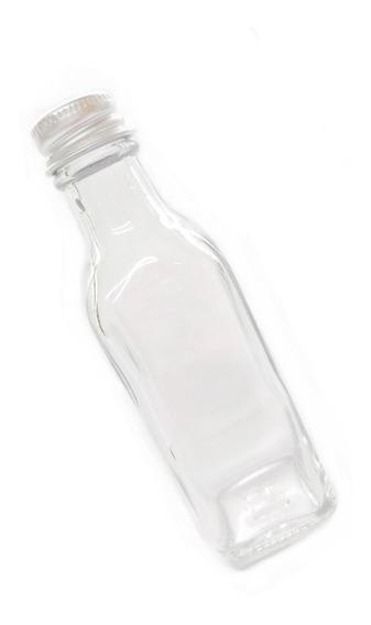 Mini Botella De Vidrio Cuadrada 50 Ml 60 Pz Tequila Bebidas