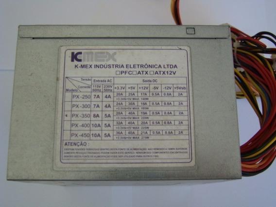 Fonte Atx 20 Pinos +2 Sata K-mex Model Px350 220w