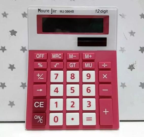 Calculadora M J (mesa) Colors 12dig - Tam 15x11x28