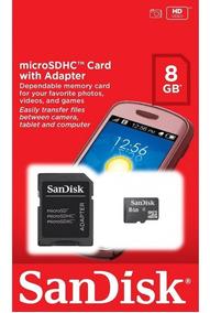 Cartão De Memória Sandisk Micro Sd 8gb - Original E Lacrado