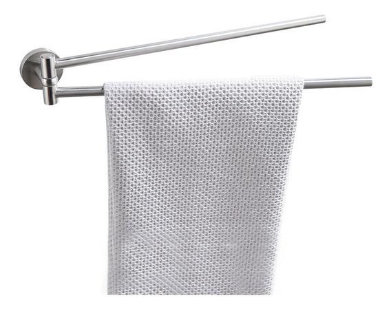 Toallero Doble Metalico Móvil Para Baño No Se Oxida