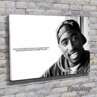 Cuadros 45x30 Música Tupac Shakur 2pac Tupac Rapero Rap