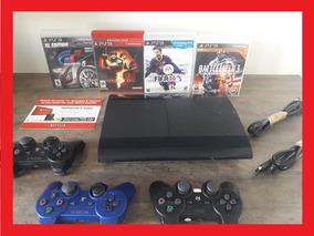 Playstation 3 Slim 500gb Original Ps3 Super + Jogos Controle