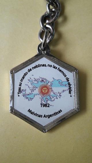 Llavero Con Medalla De Las Islas Malvinas