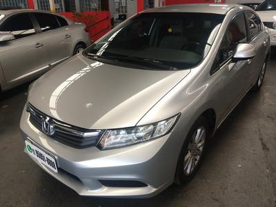 Civic Sedan Lxs 1.8 Flex 2014 /2014 Prata Completo Confira!