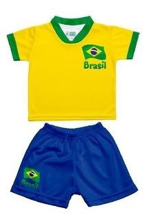 Kit Camiseta E Short Brasil