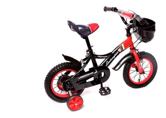 Bicicleta Infantil Canasto R 12 Rueda Inflable Mi Cielo Azul