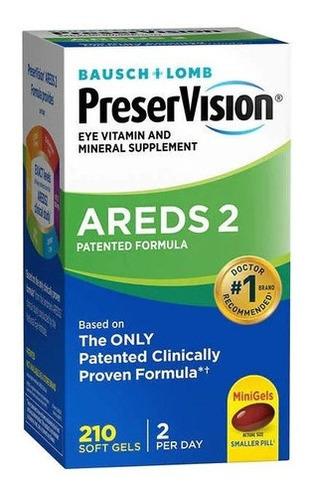 Imagem 1 de 4 de Preservision Areds 2 Eye Vitamin & Mineral 210 Minigels Novo