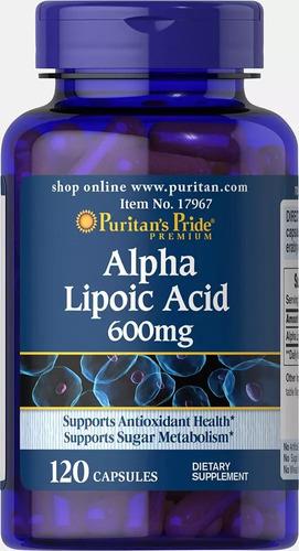Alpha Lipoic Alfa Lipoico 600mg