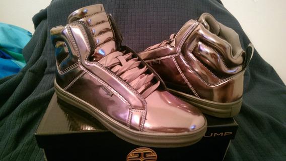 Botines- Hombre- Color Plateado- Talla 42 Y 41- Marca Jump