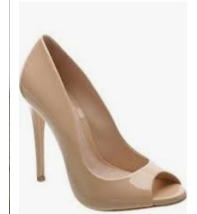 Peep Toe Sapato Schutz Nude