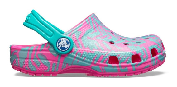 Zapato Crocs Unisex Infantil Classic Graphic Clog Magenta