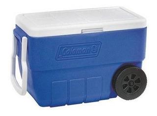 Coleman 50 Quart De Ruedas Con Refrigerador De Bajo Perfil D