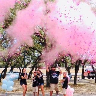 Polvo De Color + Confetti Gender Reveal - Revelación Sexo Bb