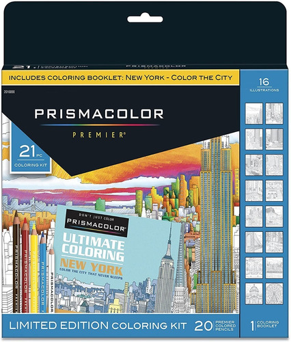 Lapices Prismacolor Premier 21 Colores Importados + Booklet