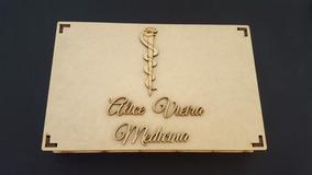 10 Caixas Mdf Porta Convite De Formatura Curso De Medicina